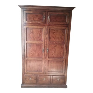 20th Century Traditional Henredon Wood Armoire For Sale