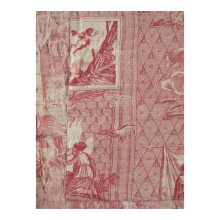 Antique 1810 Toile De Jouy 'Cupid and Psyche' Textile For Sale