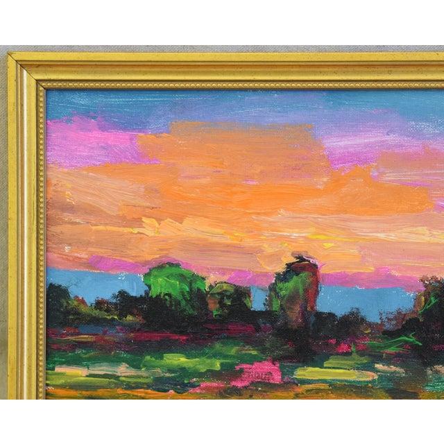 Abstract Juan Pepe Guzman Ojai California Sunset & Landscape Painting For Sale - Image 3 of 9