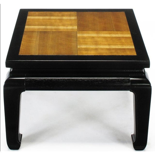 Pair Ming Low Tables With Parquetry Tops For Sale - Image 4 of 8