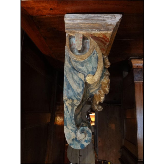 19th Century Pair of French Painted Brackets For Sale - Image 4 of 11