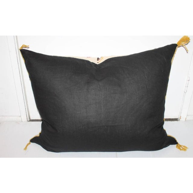 1940s Monumental Yea Indian Weaving Bolster Pillow For Sale - Image 5 of 7