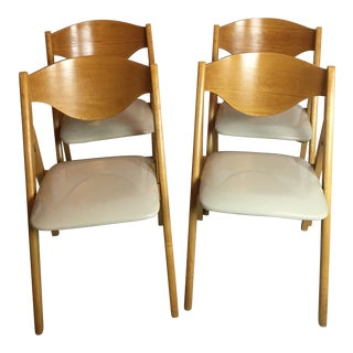 Vintage Mid Century Stakmore Folding Chairs -Set of 4 For Sale
