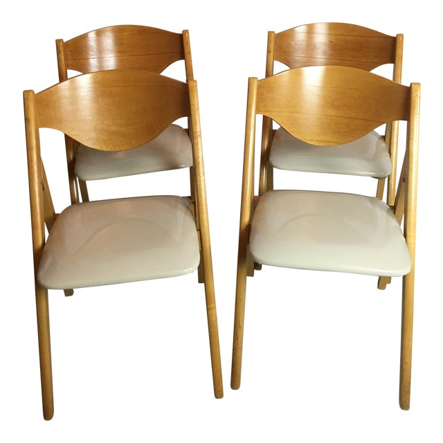 Vintage Mid Century Stakmore Folding Chairs Set Of 4 Chairish