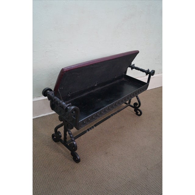 Antique 19th Century Iron Renaissance Bench For Sale - Image 4 of 10