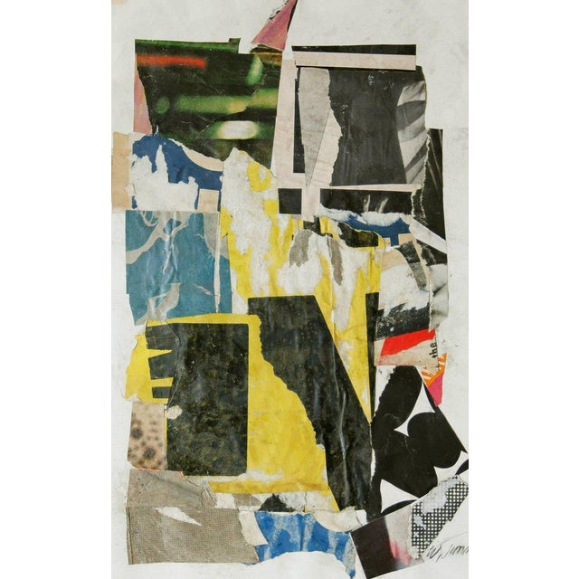 1960s Vintage Collage on Paper For Sale - Image 5 of 6