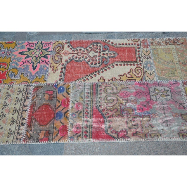 Tribal Floor Patchwork Runner Rug - 2′11″ × 9′4″ For Sale - Image 5 of 6