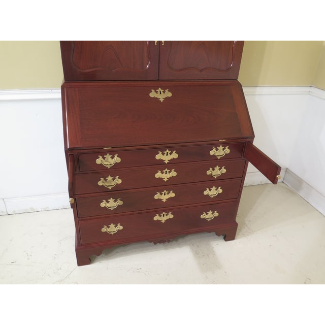 Wood 1970s Vintage Kittinger Colonial Williamsburg Mahogany Desk For Sale - Image 7 of 13