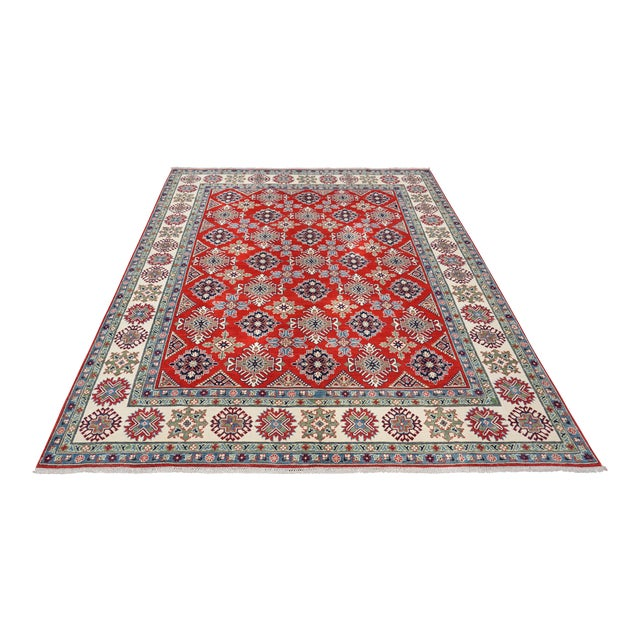 Turkish Hand Knotted Kazak Rug - 9′ × 11′10″ For Sale