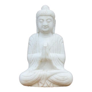 Finely Carved Burmese Marble Buddha For Sale