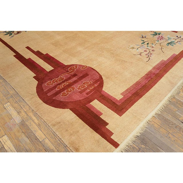 """Asian Chinese Rustic Deco Rug - 8'3""""x10'10"""" For Sale - Image 3 of 7"""