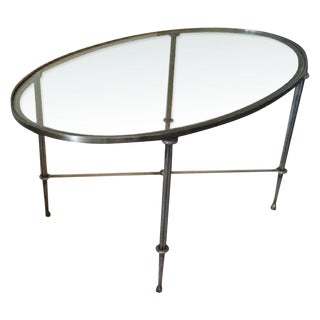 Modern La Forge Francaise Sophie Oval Cocktail Table For Sale