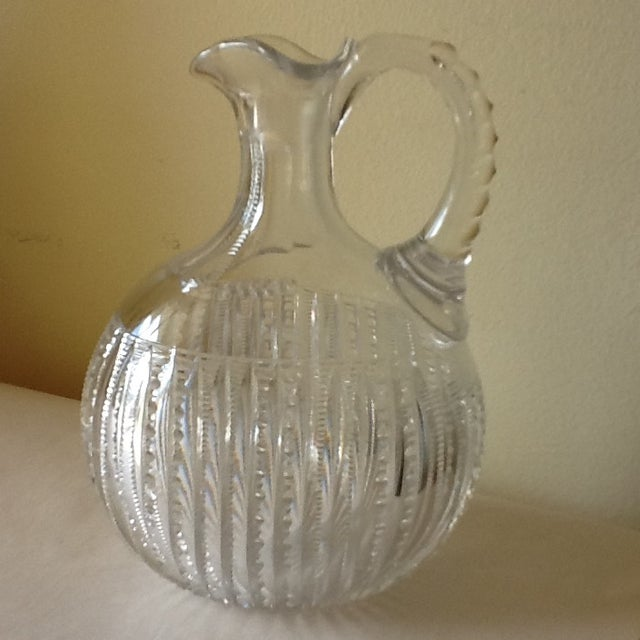 Vintage Etched Crystal Decanter or Pitcher - Image 11 of 11