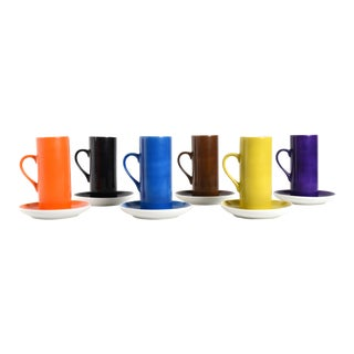 La Gardo Tackett Espresso / Demitasse Cups by Schmid - Set of 6 For Sale