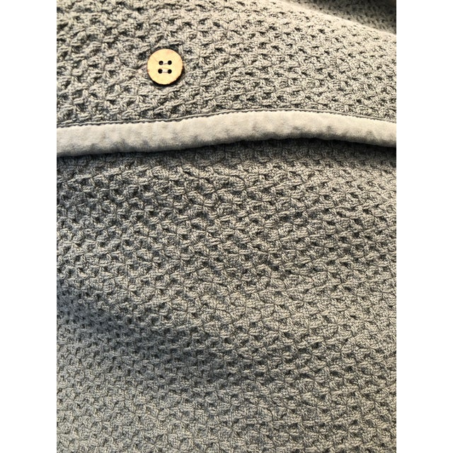 2010s Mid Grey Honeycomb Euro Shams - Set of 2 For Sale - Image 5 of 6