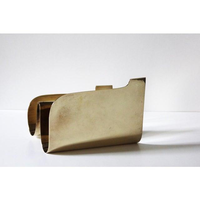 Mid-Century Modern Vintage Brass Sarreid Letter Holder For Sale - Image 3 of 5