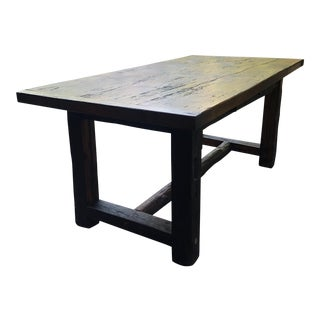 Wooden 1 Drawer Barn Table For Sale