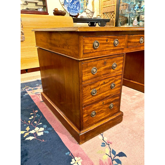 English 19th Century Pedestal Desk For Sale - Image 9 of 12