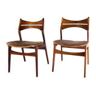 Vintage Erik Buch Rosewood Danish Dining Chairs - a Pair For Sale