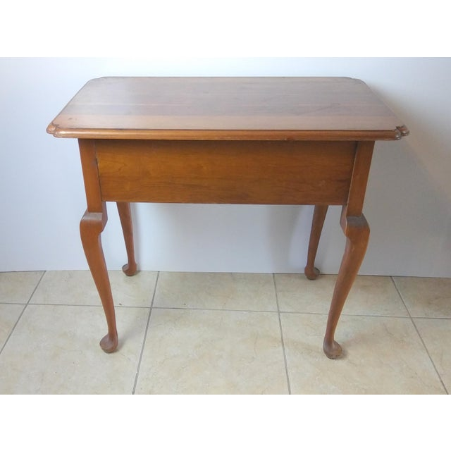 Queen Anne 20th Century Queen Anne Style L & Jg Stickley Oak Writing Desk For Sale - Image 3 of 11