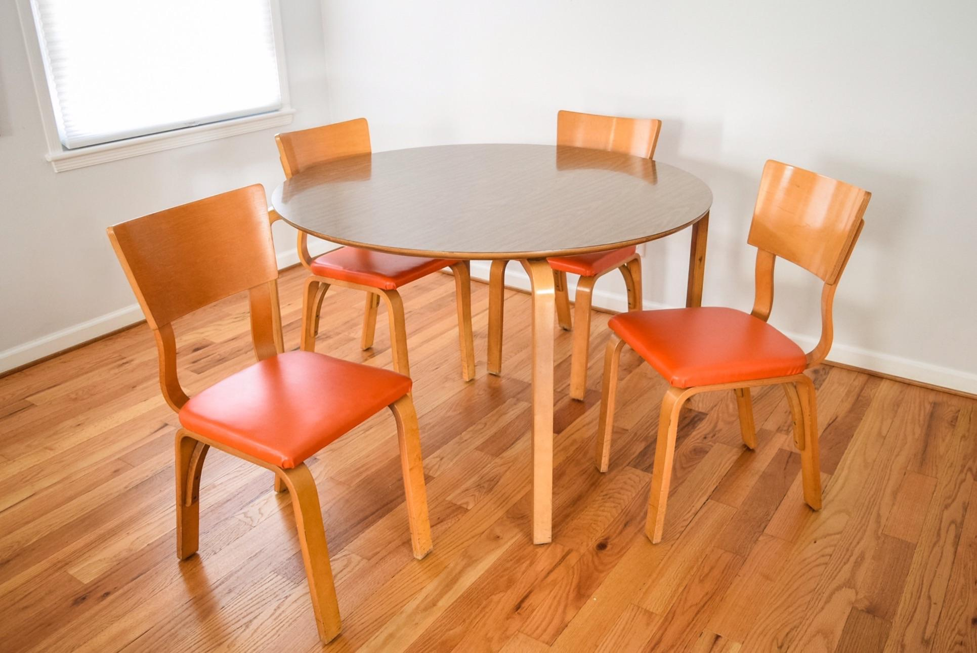 Mid Century Thonet Bentwood Table U0026 Chairs   Image 6 Of 10