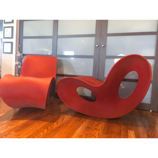 Abstract Modern Italian Magis Voido Rocking Chairs- A Pair For Sale - Image 3 of 5
