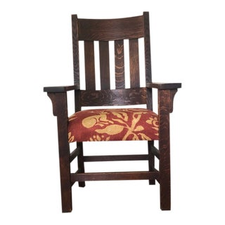 1930s Mission Style Arm Chair For Sale
