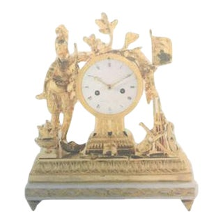 Late 18th Century French Ormolu Mantle Clock For Sale