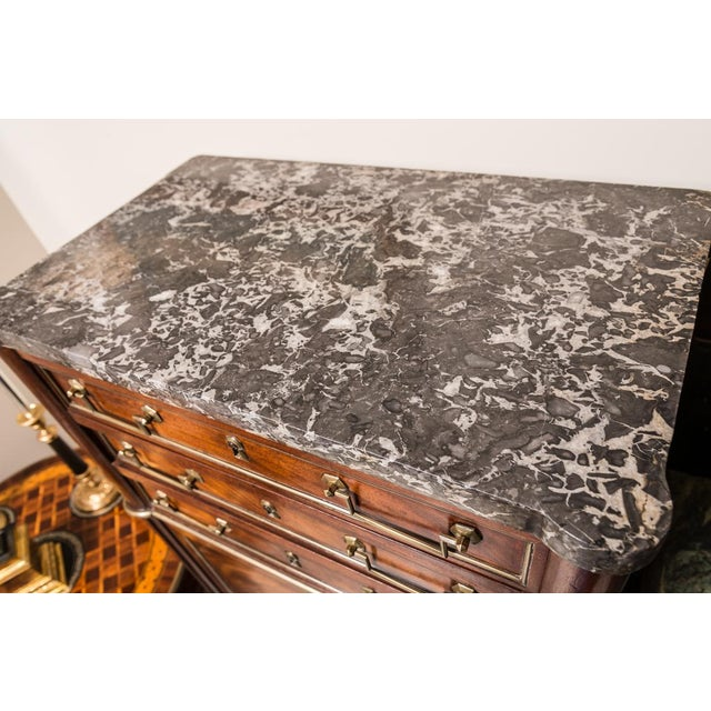 Gold Late 19th C. Directoire Chest With Marble Top For Sale - Image 8 of 10
