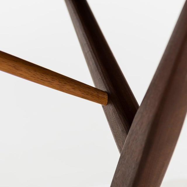 Wood Conoid Cross-Legged Desk in American Walnut and Hickory by George Nakashima, New Hope, 1963 For Sale - Image 7 of 11
