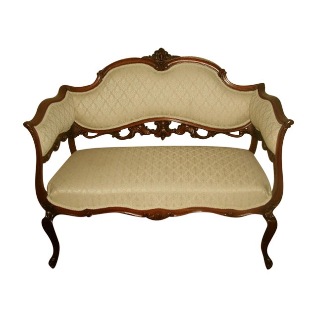 French 19th C. Walnut Settee Loveseat - Image 1 of 8