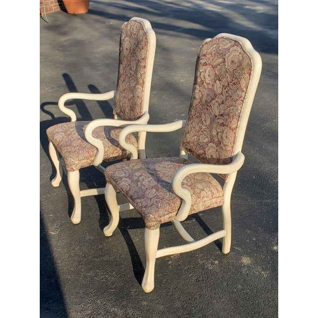 1960s Vintage High Back Patio Chairs- A Pair For Sale - Image 4 of 6