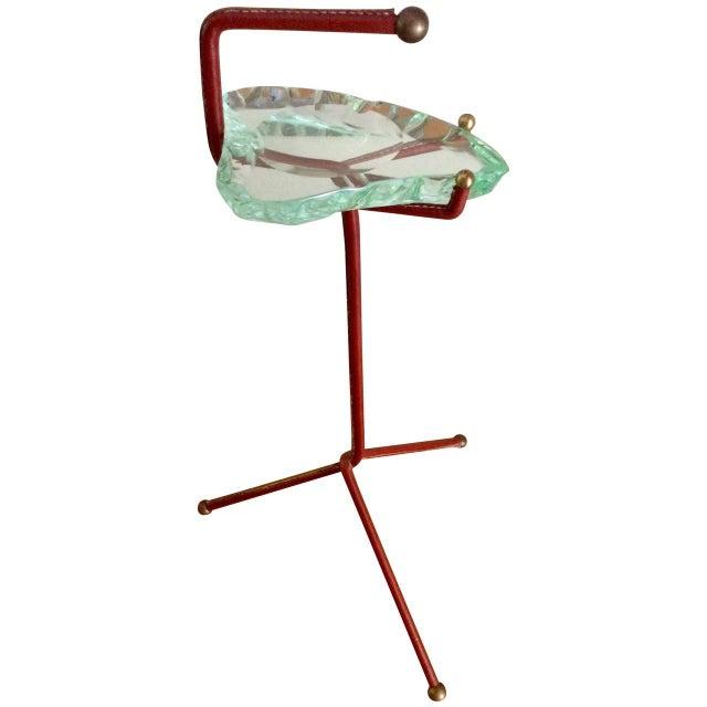 Smoking Stand With Fontana Arte Glass Ashtray - Image 1 of 6