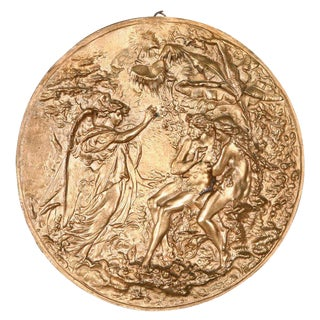 Bronze Plaque with Adam & Eve For Sale