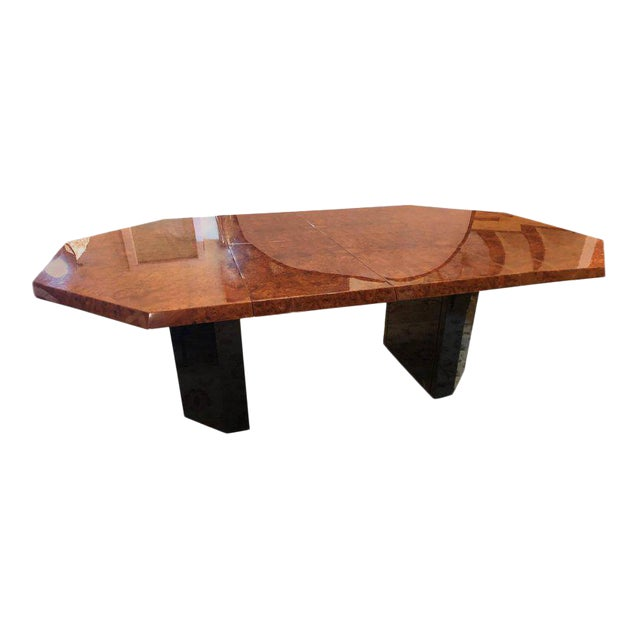 Mid-Century Milo Baughman For Thayer Coggin Burl Walnut Octagonal Dining Table For Sale - Image 12 of 12
