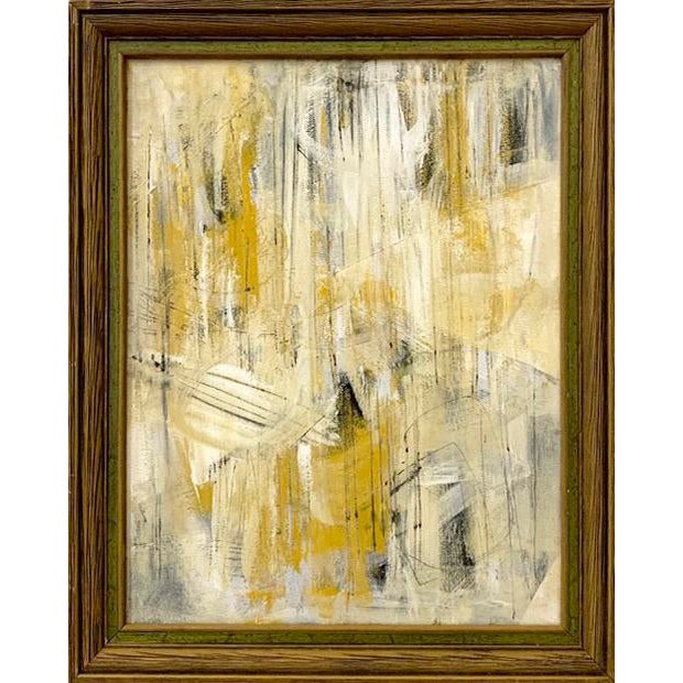 Original Abstract Mid-Century Inspired Painting, Framed For Sale