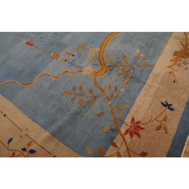 """Antique Chinese Art Deco Rug 12'0"""" X17'6"""" For Sale - Image 4 of 9"""