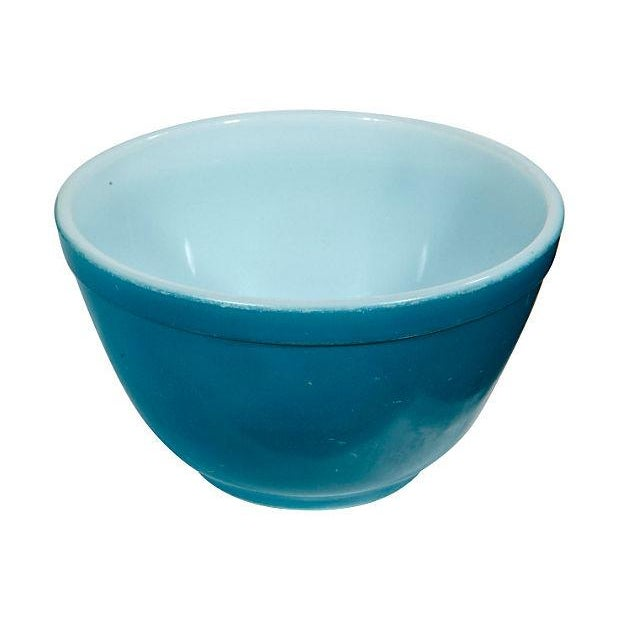 1960's Blue Pyrex Mixing Bowl - Image 2 of 3