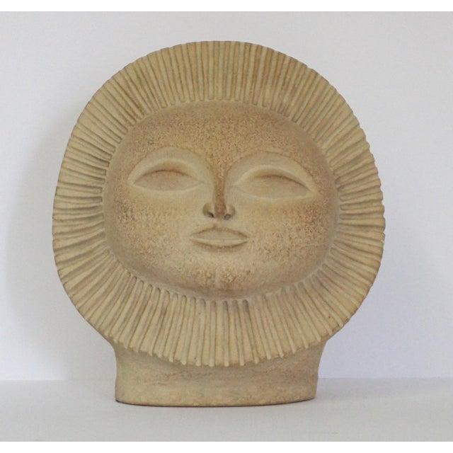 "Plaster Paul Bellardo's ""Signature"" Sunburst Sculpture For Sale - Image 7 of 7"
