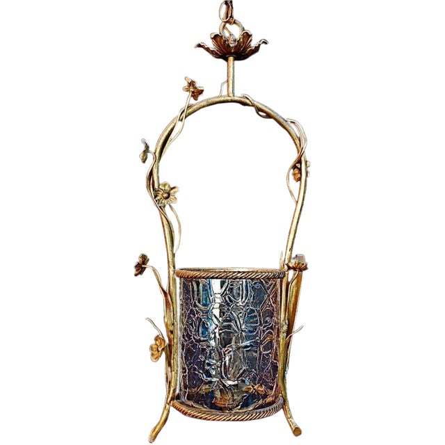 French Brass Lantern For Sale