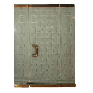 American Mid-Century Brass and Glass Entryway