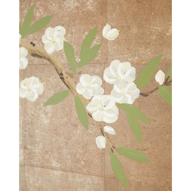 Bronze Chinoiserie Six-Panel Screen Inspired by Robert Crowder For Sale - Image 8 of 13