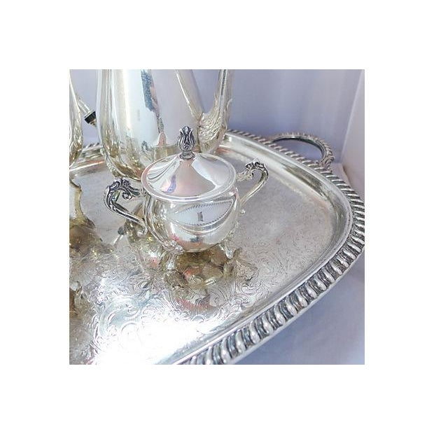 Vintage Five-Piece Silver Plate Tea & Coffee Set - Image 7 of 7