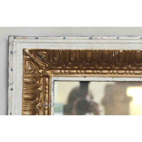White & Gold Tin Mirror - Image 2 of 2