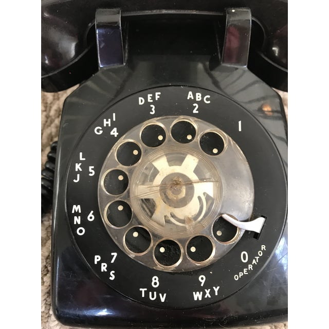 Western Electric 500 Mid-Century Black Rotary Phone For Sale In Nashville - Image 6 of 10