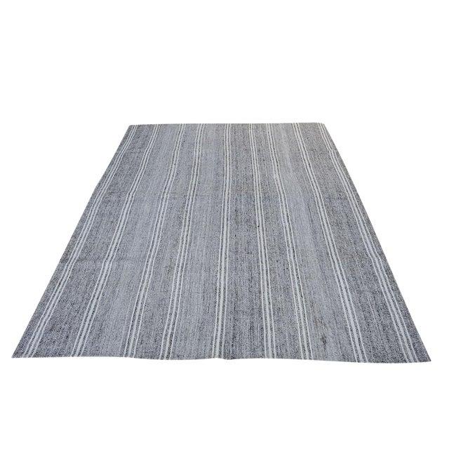 "Turkish Vintage Flat-Weave Textile - 7'3"" X 10' - Image 1 of 4"