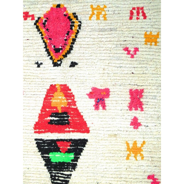 Vintage Abstract Moroccan Azilal Rug - 4′5″ × 7′1″ For Sale - Image 5 of 7