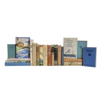 Shore Life Nautical Book Set, (S/20) For Sale