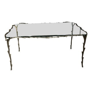 Traditional Faux Bois Coffee Table For Sale