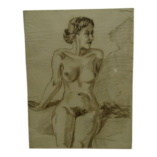 "Original Drawing Sketch ""Carol"" by Tom Sturges Jr., 1950"